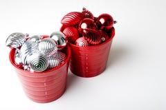 Νέες διακοσμήσεις διακοσμήσεων έτους Χριστουγέννων Στοκ εικόνα με δικαίωμα ελεύθερης χρήσης