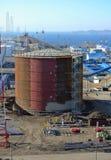 Νέες δεξαμενές αποθήκευσης πετρελαίου Στοκ εικόνες με δικαίωμα ελεύθερης χρήσης