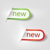 Νέες ετικέτες απεικόνιση αποθεμάτων