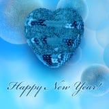 Νέες ευχετήριες κάρτες έτους Στοκ Εικόνα