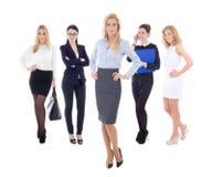 Νέες ελκυστικές επιχειρησιακές γυναίκες που απομονώνονται στο λευκό Στοκ φωτογραφίες με δικαίωμα ελεύθερης χρήσης