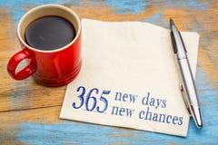 365 νέες ημέρες και πιθανότητες στοκ φωτογραφίες