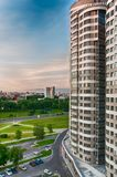 Νέες κατοικημένες πολυκατοικίες στη Ρωσία στοκ φωτογραφίες με δικαίωμα ελεύθερης χρήσης