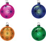 Νέες σφαίρες Χριστουγέννων έτους Στοκ Εικόνα