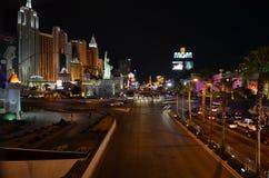 Νέες Υόρκη-νέες ξενοδοχείο της Υόρκης & χαρτοπαικτική λέσχη, Λας Βέγκας, Las Vegas Strip, η λουρίδα, μητροπολιτική περιοχή, νύχτα στοκ φωτογραφίες με δικαίωμα ελεύθερης χρήσης