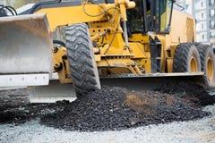 νέες χυμένες εργασίες πεζοδρομίων οδικών ερειπίων δημιουργιών κατασκευής ασφάλτου Στοκ Εικόνα