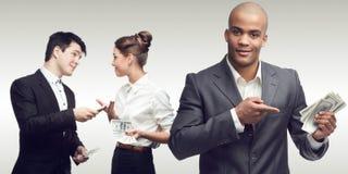 Νέοι επιτυχείς επιχειρηματίες Στοκ Εικόνα