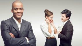 Νέοι επιτυχείς επιχειρηματίες Στοκ Φωτογραφία