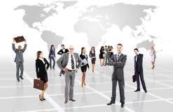 Ελκυστικοί επιχειρηματίες - η επιχειρησιακή ομάδα ελίτ στοκ φωτογραφίες