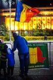 Νέοι διαμαρτυρόμενοι, Βουκουρέστι, Ρουμανία Στοκ Φωτογραφίες