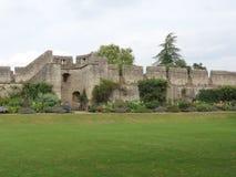 Νέοι κήποι κολλεγίου και το παλαιό Πανεπιστήμιο της Οξφόρδης τοίχων πόλεων στοκ φωτογραφία με δικαίωμα ελεύθερης χρήσης
