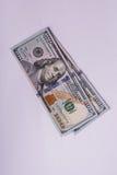 Νέοι λογαριασμοί δολαρίων που απομονώνονται Στοκ Εικόνες
