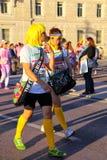 Νέοι που συμμετέχουν στο χρώμα που οργανώνεται στην Τεργέστη, Ιταλία Στοκ Φωτογραφίες