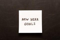 Νέοι στόχοι έτους Στοκ φωτογραφία με δικαίωμα ελεύθερης χρήσης