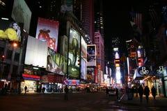 νέοι τετραγωνικοί χρόνοι Υόρκη νύχτας Στοκ εικόνα με δικαίωμα ελεύθερης χρήσης