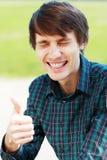 Νέος άνδρας σπουδαστής Στοκ φωτογραφία με δικαίωμα ελεύθερης χρήσης