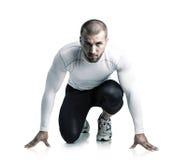 Νέος αθλητής στην αρχική θέση Στοκ Εικόνα