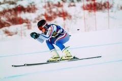 Νέος αρσενικός αθλητής προς τα κάτω Στοκ Εικόνες