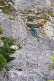 Νέος αρσενικός ορειβάτης βράχου Στοκ Εικόνα
