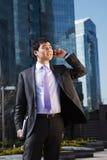 Νέος ασιατικός επιχειρηματίας. Στοκ Εικόνα