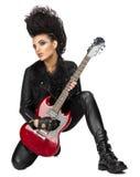 Νέος αστέρας της ροκ γυναικών Στοκ Εικόνα