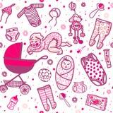 Νέος - γεννημένο άνευ ραφής σχέδιο μωρών ελεύθερη απεικόνιση δικαιώματος