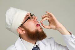 Νέος γιατρός στα γυαλιά Στοκ Εικόνα