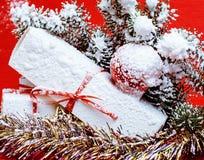 Νέος εορτασμός έτους, ουσία διακοπών Χριστουγέννων, δέντρο, παιχνίδια, ντεκόρ Στοκ Εικόνες