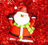 Νέος εορτασμός έτους, ουσία διακοπών Χριστουγέννων, δέντρο, παιχνίδια, διακόσμηση με το χιόνι που απομονώνεται, κόκκινο καπέλο sa στοκ εικόνες