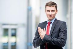 Νέος επιτυχής επιχειρηματίας στην αρχή Στοκ Εικόνες