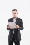 Νέος επιχειρηματίας με τα έγγραφα Στοκ φωτογραφία με δικαίωμα ελεύθερης χρήσης