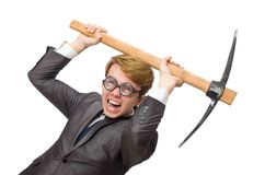 Νέος επιχειρηματίας με το όπλο Στοκ Φωτογραφία