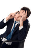 Νέος επιχειρηματίας που μιλά στο τηλέφωνο. Στοκ εικόνα με δικαίωμα ελεύθερης χρήσης
