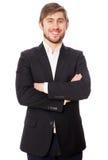 Νέος επιχειρηματίας στο άσπρο υπόβαθρο Στοκ Φωτογραφίες