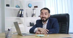 Νέος επιχειρηματίας στο τηλέφωνο στην αρχή Στοκ Εικόνα