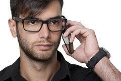 Νέος επιχειρηματίας στο τηλέφωνο Στοκ εικόνες με δικαίωμα ελεύθερης χρήσης