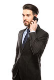 Νέος επιχειρηματίας στο τηλέφωνο Στοκ φωτογραφία με δικαίωμα ελεύθερης χρήσης