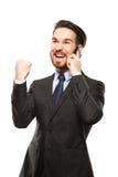 Νέος επιχειρηματίας στο τηλέφωνο Στοκ εικόνα με δικαίωμα ελεύθερης χρήσης