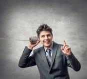 Νέος επιχειρηματίας - τηλεφωνική έννοια στοκ εικόνες