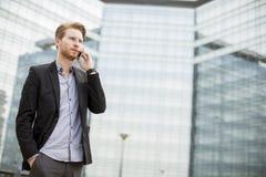 Νέος επιχειρηματίας υπαίθριος Στοκ φωτογραφία με δικαίωμα ελεύθερης χρήσης