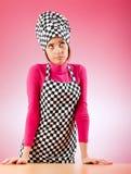 Νέος θηλυκός μάγειρας ενάντια στην κλίση Στοκ Εικόνες
