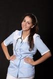 Νέος θηλυκός γιατρός με το στηθοσκόπιο Στοκ Φωτογραφίες
