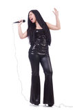 Νέος θηλυκός τραγουδιστής Στοκ Εικόνες
