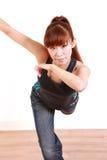 Νέος ιαπωνικός χορός γυναικών Στοκ Εικόνες