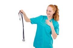 Νέος ιατρικός εκπαιδευόμενος Στοκ Εικόνα