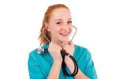 Νέος ιατρικός εκπαιδευόμενος Στοκ εικόνες με δικαίωμα ελεύθερης χρήσης