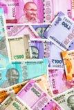 Νέος Ινδός 50, 100, 200, 500, 2000 τραπεζογραμμάτια ρουπίων Ζωηρόχρωμο υπόβαθρο χρημάτων τέφρας Ñ 