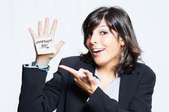 Νέος και εύθυμος γραμματέας Στοκ εικόνα με δικαίωμα ελεύθερης χρήσης