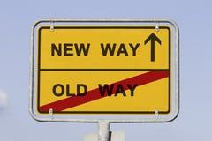 Νέος και παλαιός τρόπος Στοκ Εικόνες