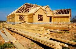 νέος κατώτερος σπιτιών κατασκευής στοκ εικόνες